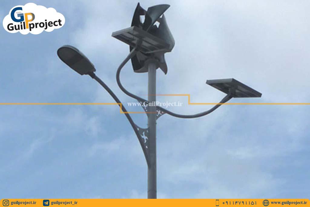 پایه چراغ شرکت Eolgreen مجهز به led